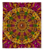 Orient Sun In Fantasy Style Fleece Blanket