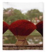 Oriental Hue Fleece Blanket