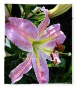 Oriental Lily Named Tom Pouce Fleece Blanket
