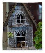 Ornamental Bird House Fleece Blanket