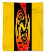 Ornamental Vase - Fire Fleece Blanket