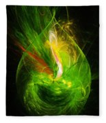 Ornate Emerald Green Drop Fleece Blanket