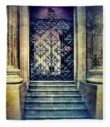 Ornate Entrance Gate Fleece Blanket