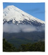 Osorno Volcano Ringed By Clouds Fleece Blanket