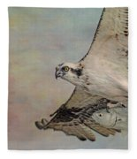 Osprey And Fish Fleece Blanket