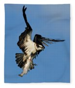 Osprey And Rainbow Trout Fleece Blanket
