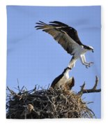 Osprey Coming In For A Landing Fleece Blanket