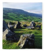 Ossians Grave, Co Antrim, Ireland Stone Fleece Blanket