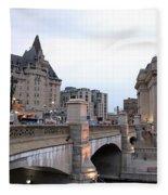 Ottawa Night View Fleece Blanket