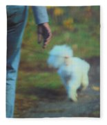 Out For A Stroll Fleece Blanket