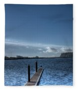Out Into The Bay Fleece Blanket