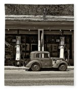 Out Of The Past Sepia Fleece Blanket
