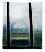 Out The Back Window Of The Delta Blues Museum Clarksdale Ms Fleece Blanket