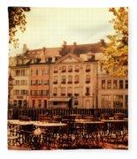 Outdoor Cafe In Lucerne Switzerland  Fleece Blanket
