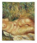 Outstretched Nude Fleece Blanket