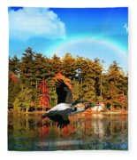 Over The Rainbow Fleece Blanket