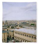 Looking Over Paris Fleece Blanket