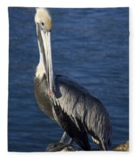 Over The Shoulder Pose Fleece Blanket