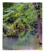 Overcast Reflections At Buck Creek Fleece Blanket