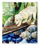Overcoming Fear Fleece Blanket