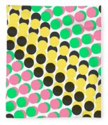 Overlayed Dots Fleece Blanket