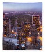 Overlooking Central Park Fleece Blanket