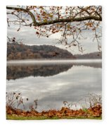 Overlooking The River Fleece Blanket