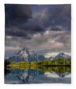 Oxbow Light And Clouds Fleece Blanket
