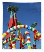 Oxen Cart Decorations Fleece Blanket