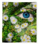 Oxeye Daisy Fleece Blanket