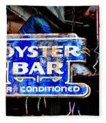 Oyster Bar Sign Fleece Blanket