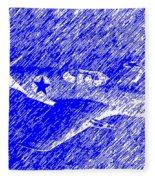 P 51 Mustang Flying In The Rain Fleece Blanket
