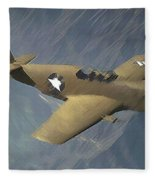 P 51 Mustang On A Mission Fleece Blanket