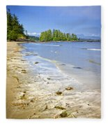 Pacific Ocean Coast On Vancouver Island Fleece Blanket