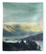 Pacific Ocean Fog Bank  Fleece Blanket