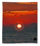 Pacific Sunset Fleece Blanket