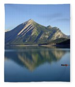 Sunrise Paddle In Peace - Kananaskis, Alberta Fleece Blanket