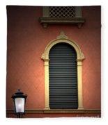 Padua Window And Lamp Light Padua Italy Fleece Blanket