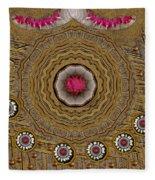 Pagoda Of Lotus Pop Art Fleece Blanket