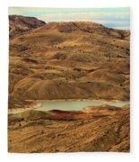 Paint Around The Lake Fleece Blanket