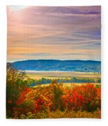 Paint Valley From Valley View Golf Fleece Blanket