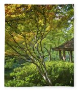 Painted Gardens Fleece Blanket