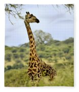 Painted Giraffe Fleece Blanket