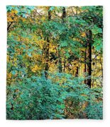 Painted Gold With Sunlight Fleece Blanket