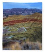 Painted Hills At Dusk Fleece Blanket