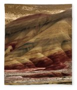 Painted Hills Grooves Fleece Blanket