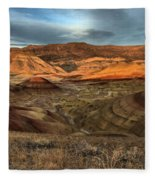 Painted Hills In The Fossil Beds Fleece Blanket