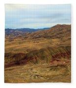 Painted Landscape Fleece Blanket