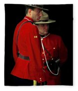 Painted Mounties Fleece Blanket