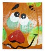 Painted Pumpkin 3 Fleece Blanket